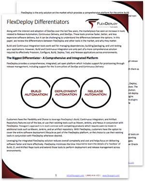 FlexDeploy Differentiators