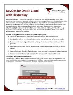 FlexDeploy for Oracle Cloud whitepaper