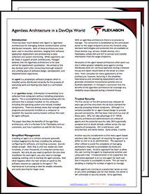 Flexagon- Agentless Architecture